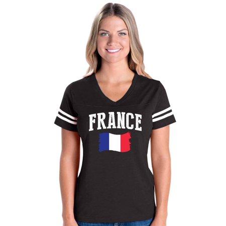 France Womens V-Neck Fine Jersey (France Training Jersey)