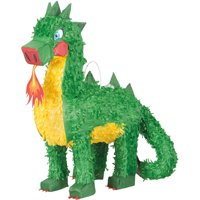Dragon Pinata, Green & Yellow, 14in x 18.5in