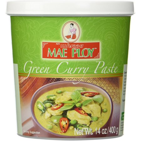 Mae Ploy Green Curry Chili Paste 14oz (Thai Red Curry Paste)