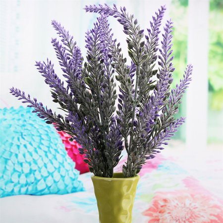1 Bouquet Artificial Lavender Flower Silk Flowers Home Decor Wedding Bridal Bouquet Garden Floral Decor