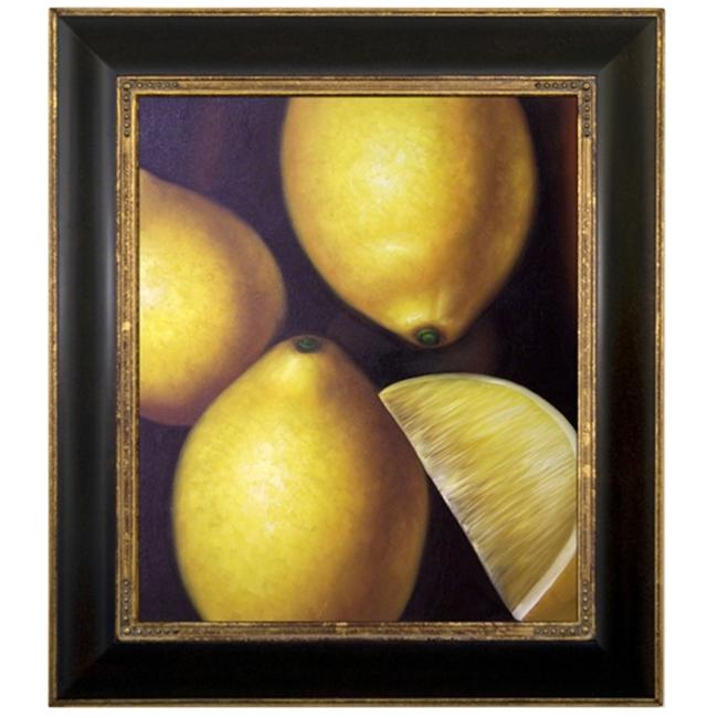 Artmasters Collection KM89555-240G Lemons Framed Oil Painting