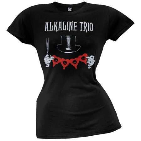 Alkaline Trio - Top Hat Juniors T-Shirt - Alkaline Trio Halloween