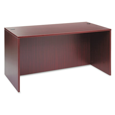 Alera Valencia Series Straight Desk Shell, 59 1/8w x 29 1/2d x 29 5/8h, -