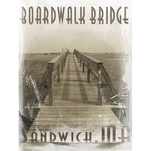 Graffitee Studios Cape Cod Boardwalk Bridge of Sandwich Wrapped Photographic Print on... by Graffitee Studios