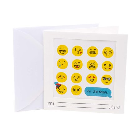 Hallmark Studio Ink Emoji Stickers Birthday Greeting Card