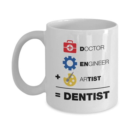 A Doctor, An Engineer & An Artist Is Equal To A Dentist Funny Equation Themed Coffee & Tea Gift Mug Cup, Home Décor, Office Decoration, Stuff & Christmas Or Graduation Gifts For Men & Women Dentists](Pinterest Graduation Gifts)