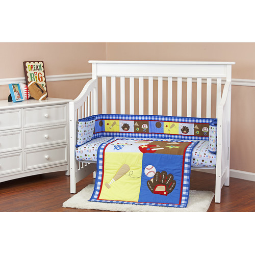 Dream On Me All-Star Portable 3 Piece Crib Bedding Set