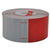 ORALITE 18687 Reflective Tape,W 3 In,Red/White