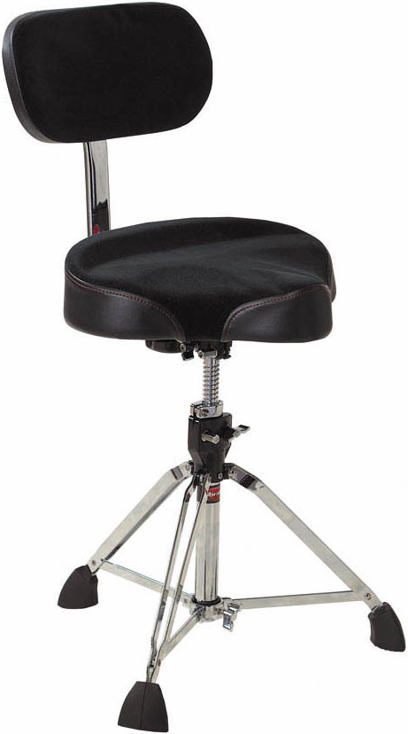 Gibraltar 9608MB Bike Seat Style Large Cordura Drum Throne with Backrest by Gibraltar
