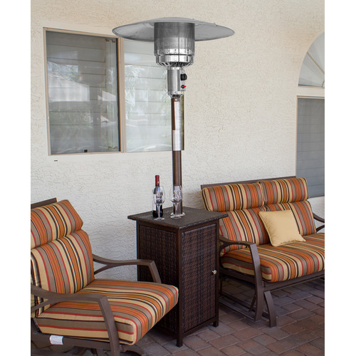 AZ Patio Heaters Tall Square 41,000 BTU Propane Patio Heater With Wheels