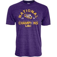 LSU Tigers Blue 84 College Football Playoff 2019 National Champions Hayneedle Tri-Blend T-Shirt - Purple