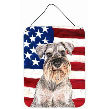 85cd85c1f18a Caroline s Treasures Usa American Flag with Schnauzer by Denny ...