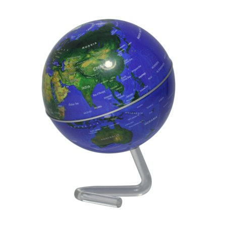 """4"""" Self-Rotating Geography World Globe World Map Ornaments Home Office Decor blue - image 1 of 8"""