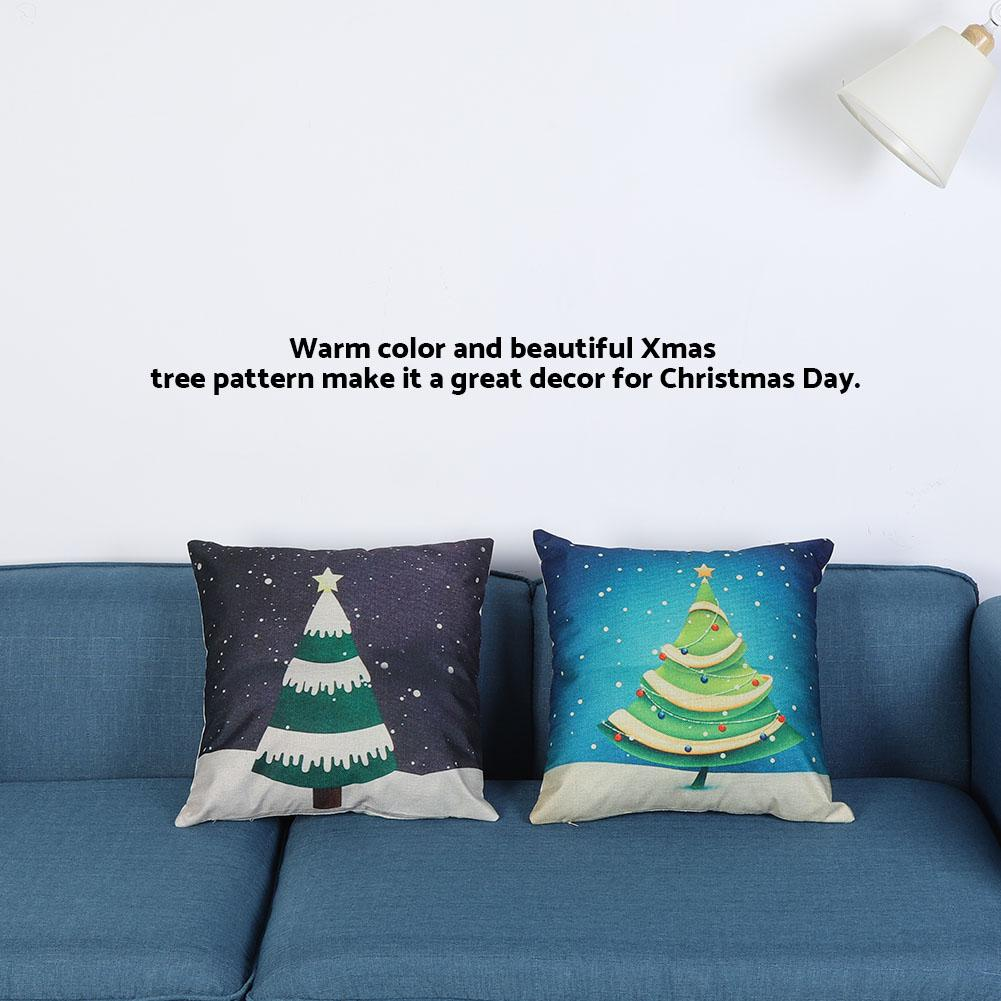VBESTLIFE Xmas Tree Pillowcase Pillow Cover Pillowslip for Cushion Christmas Home Decoration , Xmas Tree Pillowcase,  Pillowslip