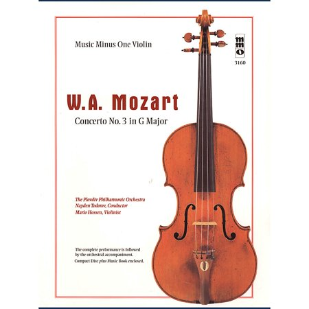 Music Minus One Mozart - Violin Concerto No. 3 in G Major, KV216 Music Minus One Series Softcover Audio