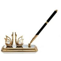 Matashi Crystal Mini Swan Pen Holder