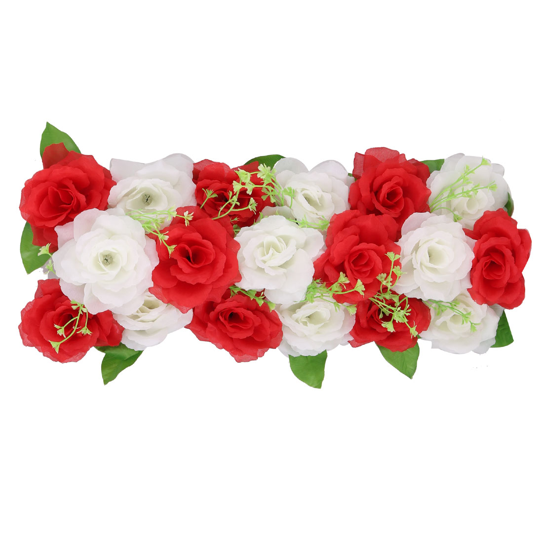 Wedding Fabric DIY Wall Arch Hanging Artificial Flower Garland Decor Red  White