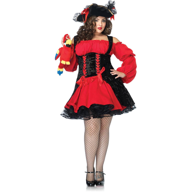 leg avenue plus size pirate girl adult halloween costume - walmart