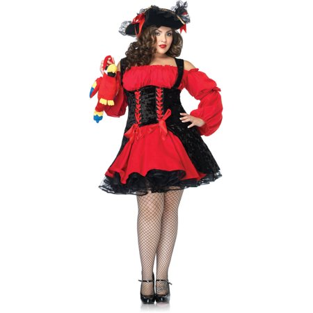 Leg Avenue Plus Size Pirate Girl Adult Halloween Costume - One Leg Flamingo Halloween Costume