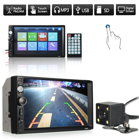 Bestller In Deck Car Video Vehicle Parts Autoradio MP5 MP3 Music Multimedia Double Din Electronics Auto Radio Car Stereo TFT Touch Aux Remote control TV Rearview Camera