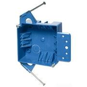 Thomas & Betts B418A-UPC PVC 2-Gang Adjustable Outlet Box 4 Inch x 4 Inch x 1-5/8 Inch 18 Cubic-Inch Carlon Blue