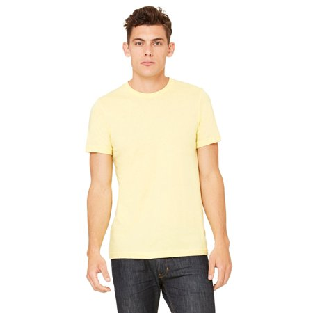 Branded Bella + Canvas Unisex Jersey Short Sleeve T-Shirt - YELLOW - L (Instant Saving 5% & more)