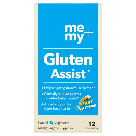 Me + My Gluten Assist Digestive Enzyme Supplement Capsules, 12 (Enzymes To Assist In Food Allergies And Intolerances)