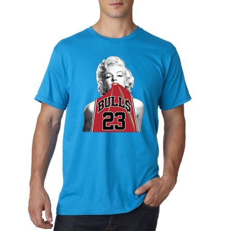 419 - Unisex T-Shirt Marilyn Monroe Bulls 23 Jordan Red Jersey (Red And Black 23 Jordans)