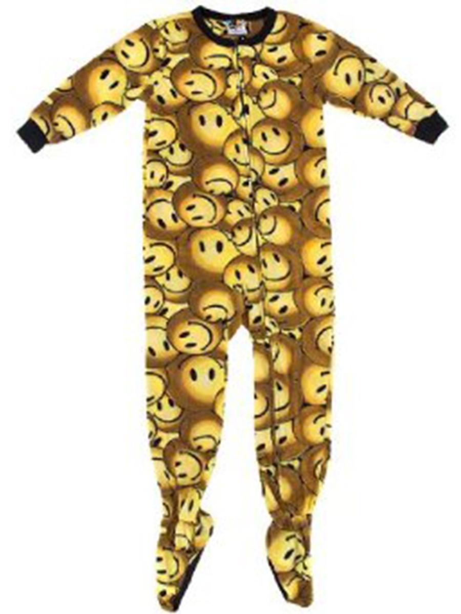 Fun Footies Yellow Smiley Pajamas for Kids