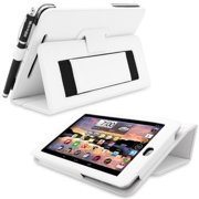 Snugg B00CL8LYBS Nexus 7 Case Cover and Flip Stand, White Leather
