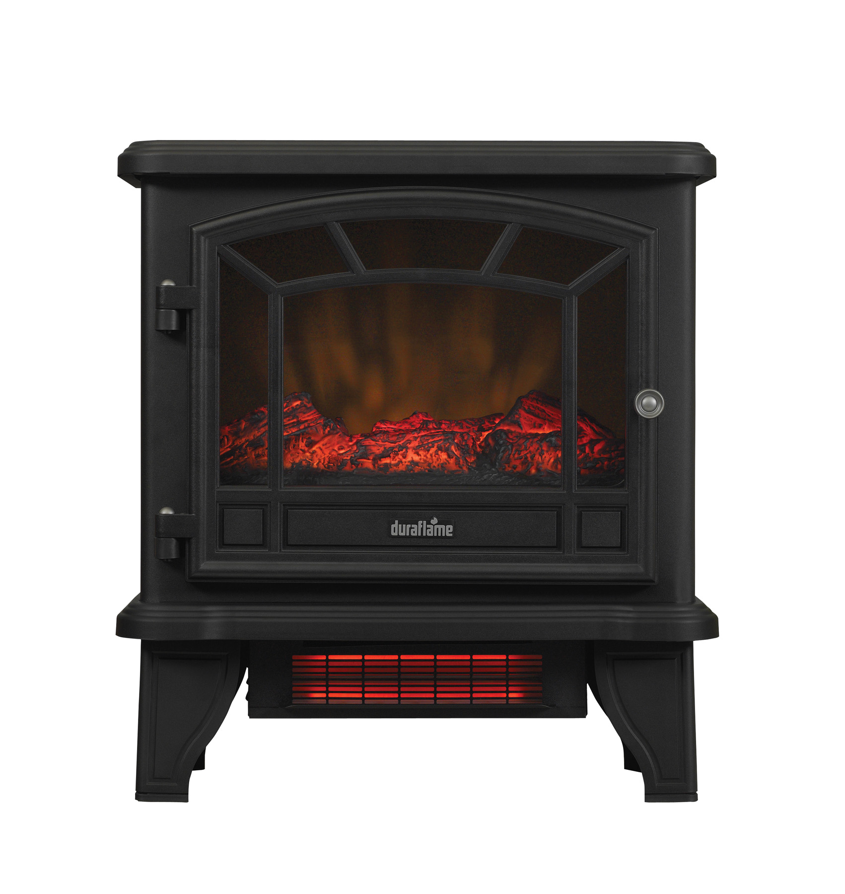 Duraflame Freestanding Infrared Quartz Fireplace Stove, Black ...