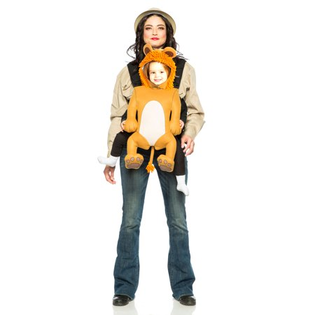 Safari Guide & Lion Baby Carrier Costume - Halloween River Safari