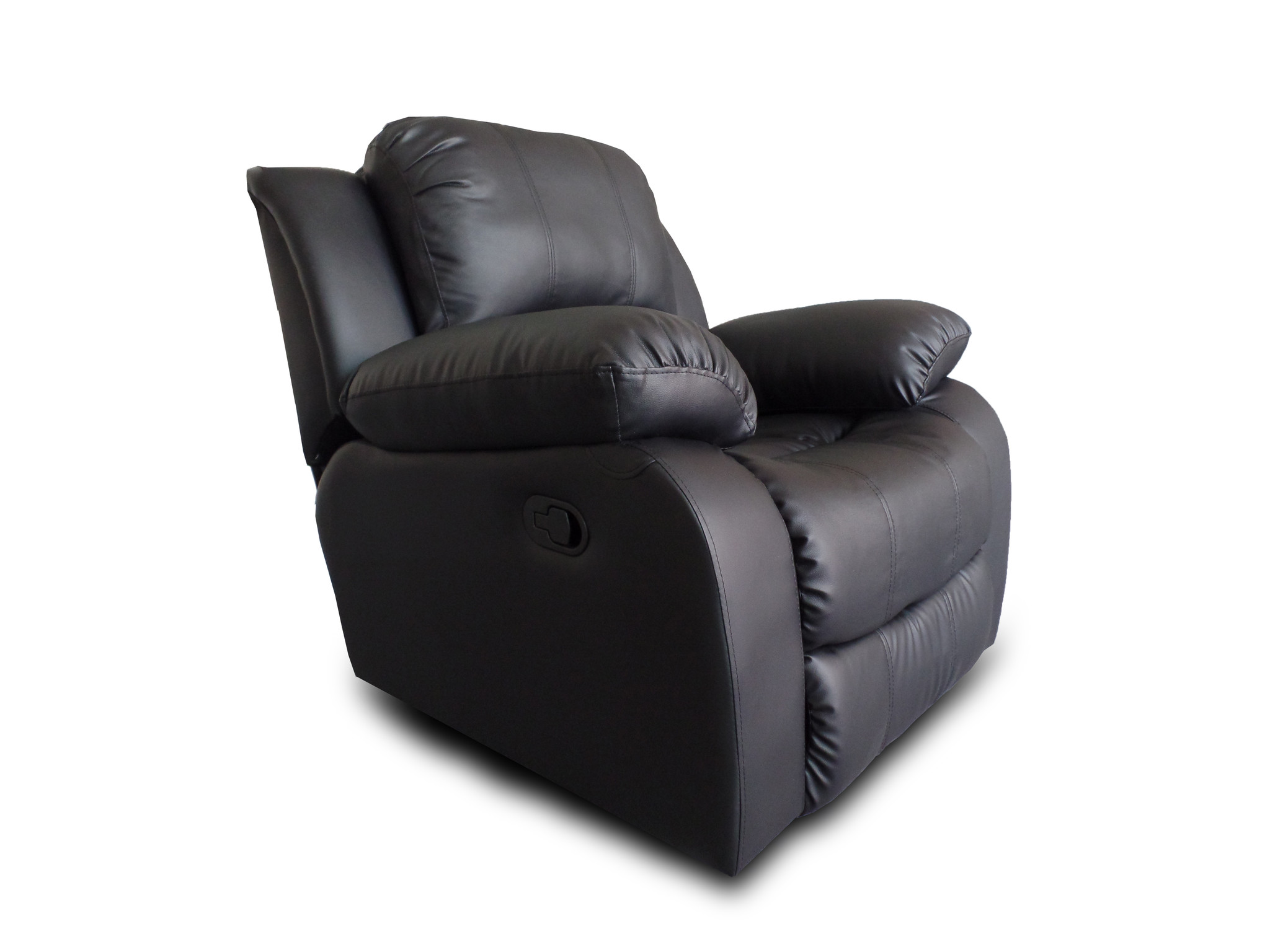 Classic Oversize And Overstuffed Single Seat Bonded Leather Recliner Chair    Walmart.com