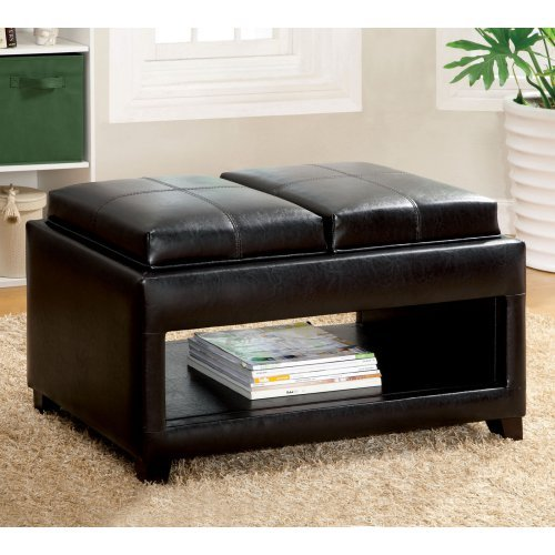 Furniture of America Menti Leatherette Storage Bench
