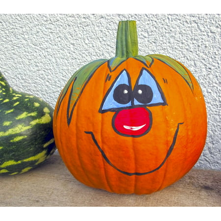 LAMINATED POSTER Autumn Halloween Gourd Autumn Decoration Pumpkin Poster Print 24 x 36 - Halloween Painted Gourds Ideas