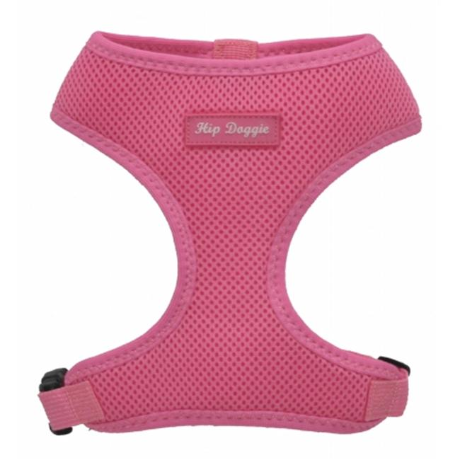 Hip Doggie HD-6PMHPK-L Large Ultra Comfort Pink Mesh Harness Vest