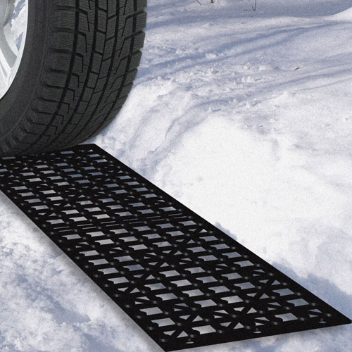 Stalwart Car Tire Snow Grabber Mats, 4pc