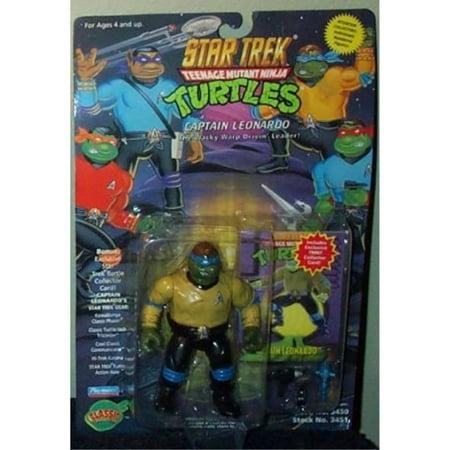 Star Trek Teenage Mutant Ninja Turtles Captain Leonardo Action Figure](Ninja Stars Paper)