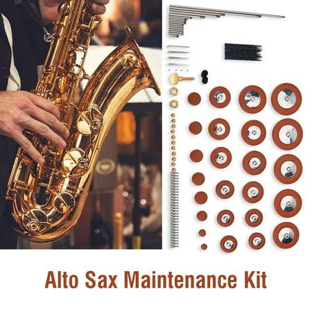 Yosoo Alto Sax Repair Maintenance Kit Set Wind Musical Instrument Parts  Accessories for Saxophone,Alto Sax Repair Parts, Alto Sax Kit