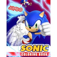 Sonic Coloring Book: Super Sonic Coloring Book For Kids, Jumbo Coloring Book With Premium Quality (Paperback)