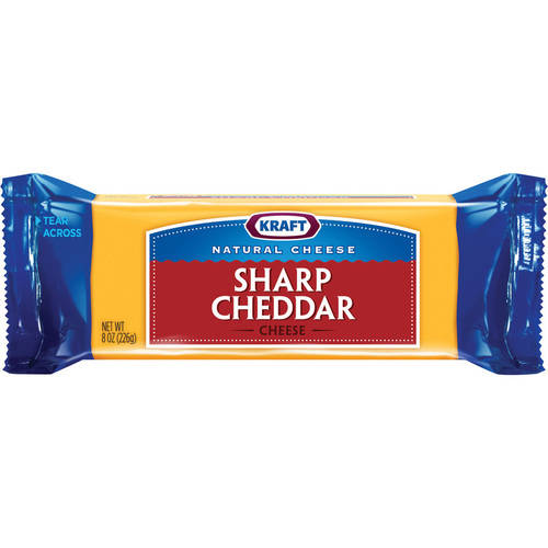 Kraft Natural Cheddar Sharp Cheese Chunk, 8 oz
