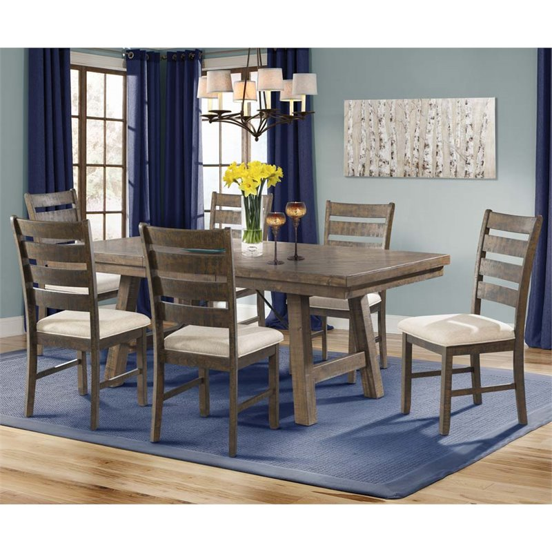 Picket House Furnishings Dex 7 Piece Extension Dining Table Set