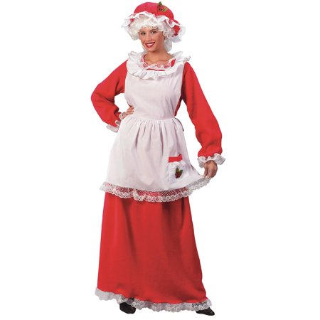 Mrs Claus Womens Adult Christmas Holiday Halloween Costume-Os
