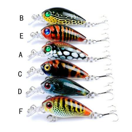 1Pcs Hard Fishing Lure Hook Crank Bait River Fishing