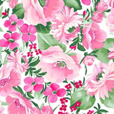Clothworks Cotton - Chelsea Floral Cotton Fabric by Clothworks