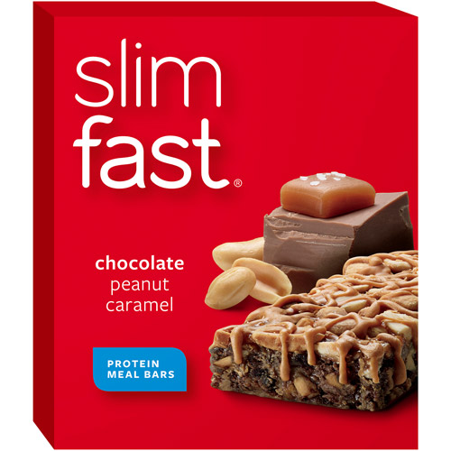 Slim-Fast Chocolate Peanut Caramel Meal Bar, 5ct