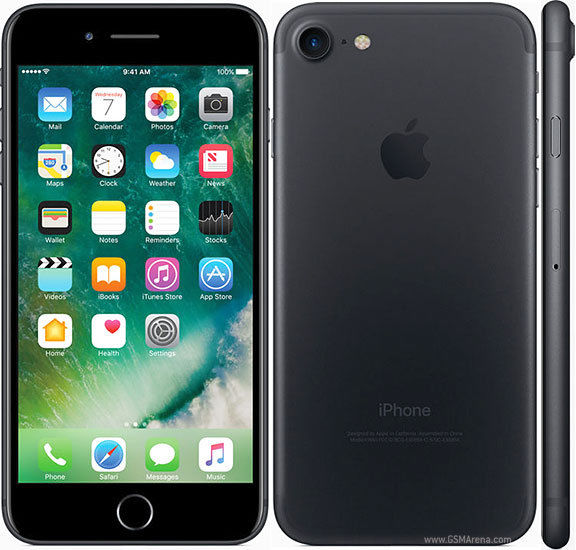 "Apple iPhone 7 32GB 4.7"" Display 4G GSM MATTE BLACK UNLOCKED Smartphone REFURBISHED"