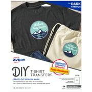 Avery Printable T-Shirt Transfers For Dark Fabrics, Inkjet, 5 Sheets (3279)