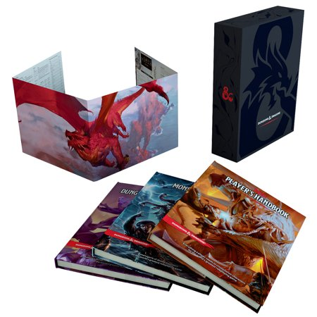 Dungeons & Dragons Core Rulebook Gift Set (Hardcover) Dragon Token Set
