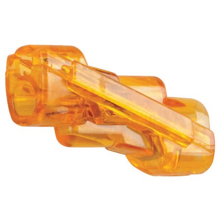 IDEAL In-Line Push-In Wire Connector, 600 V, 2 Ports, Polycarbonate, Orange, 105 deg (Ideal 2 Port Push In Wire Connectors)